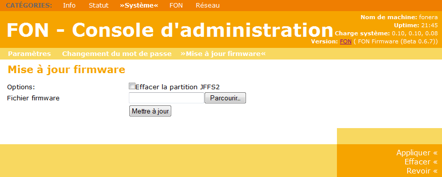 Update Firmware FON